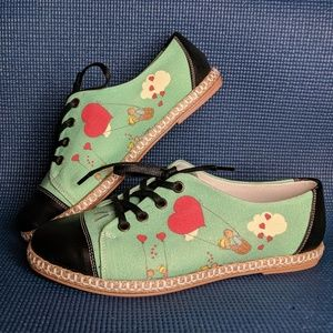 Cotto Heart Balloon Graphic Canvas Shoes